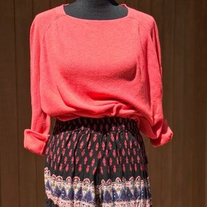 Loft Super soft Cozy Coral Cotton Sweater Medium